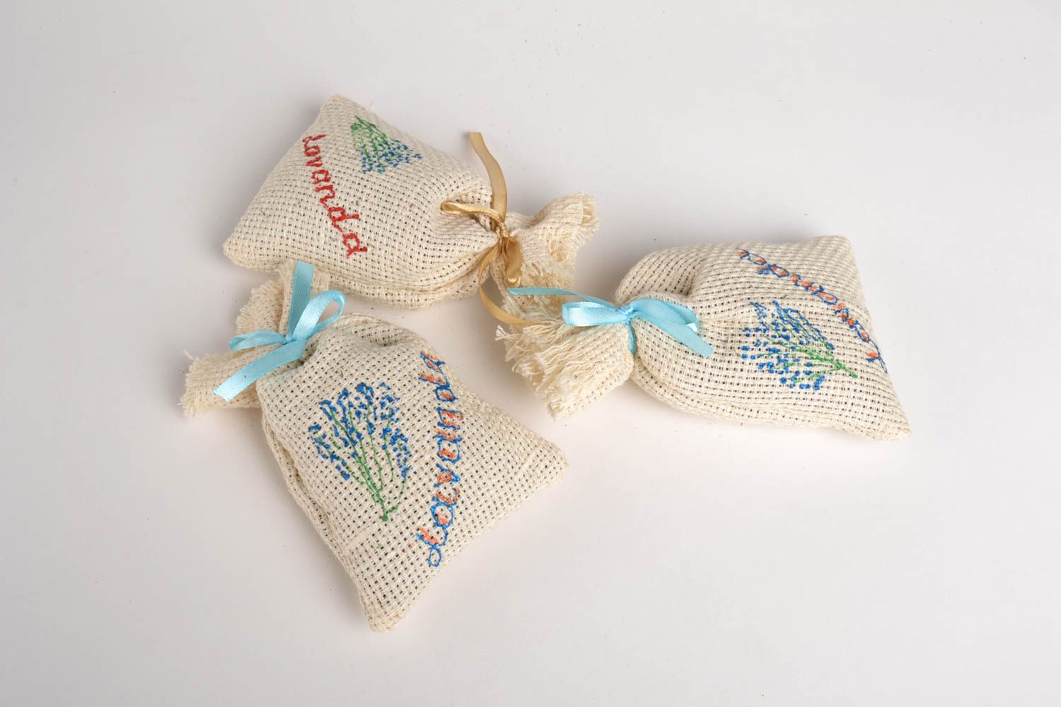 Handmade decorative sachet bag scented sachet bags 3 pieces small gifts photo 4