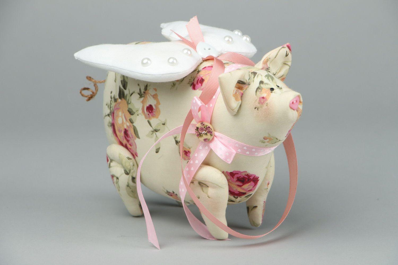Soft toy Piggy-Angel photo 1