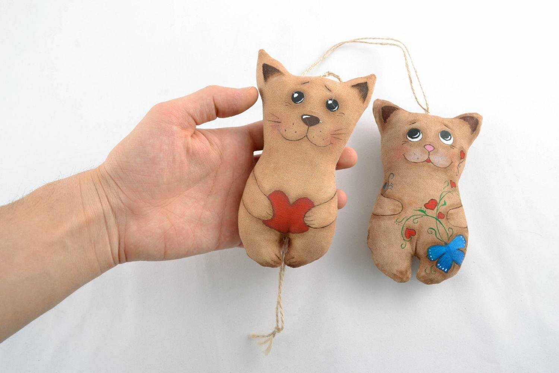 Интерьерные игрушки своими руками интерьерные котики 11
