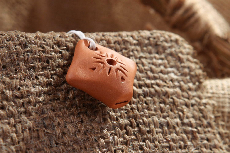Ceramic tin whistle pendant, 2 sounds photo 1