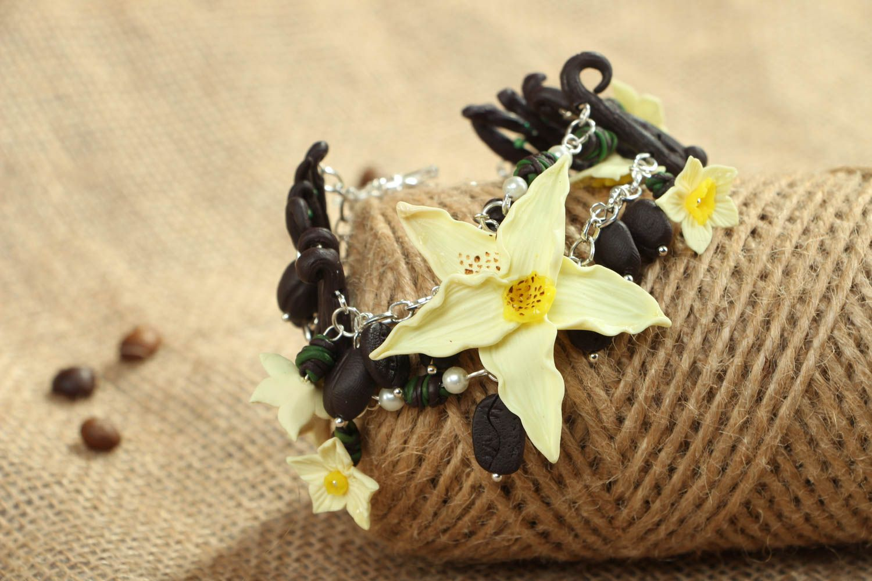 Polymer clay floral bracelet photo 6