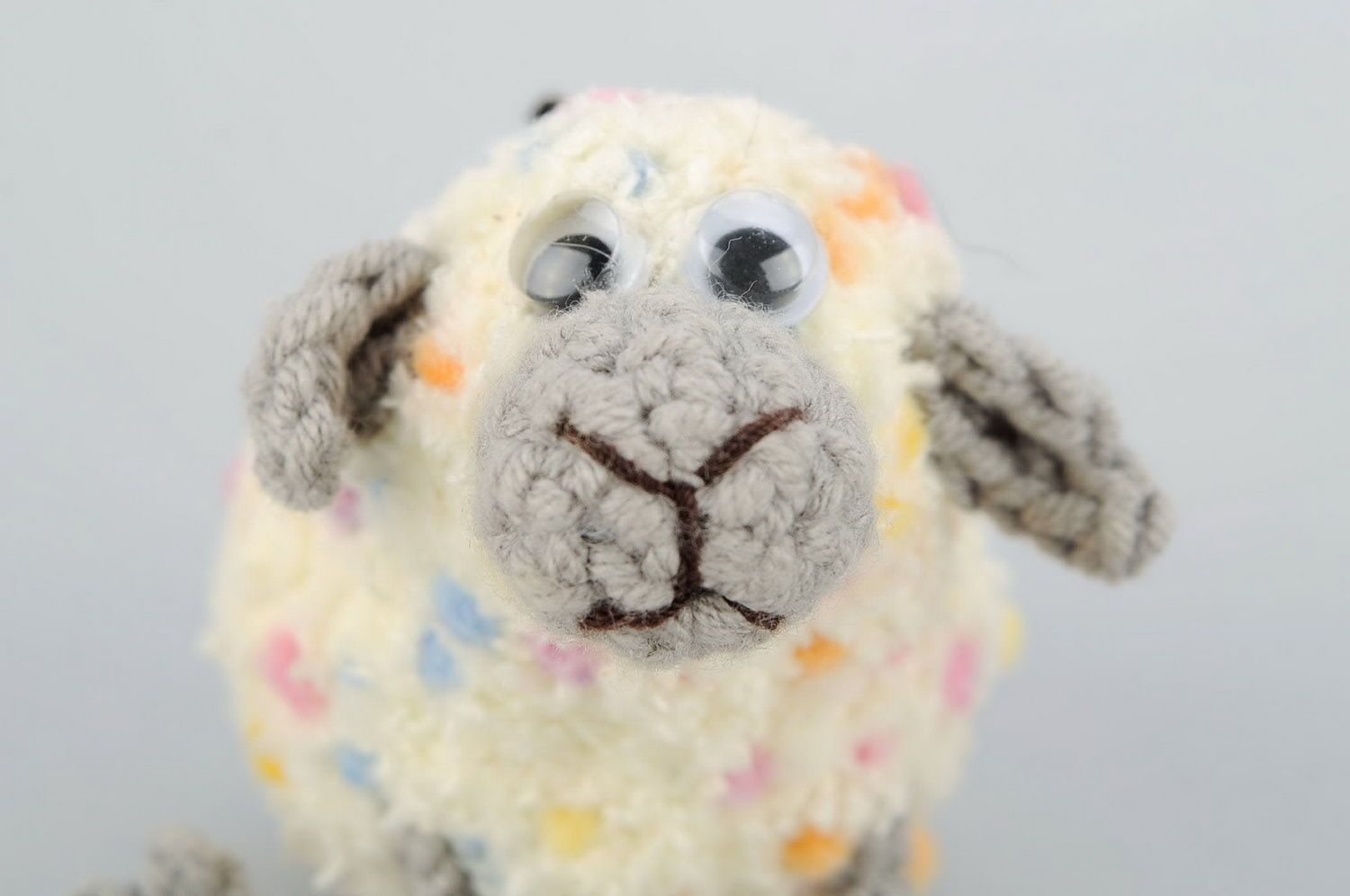 Crochet keychain Sheep photo 1
