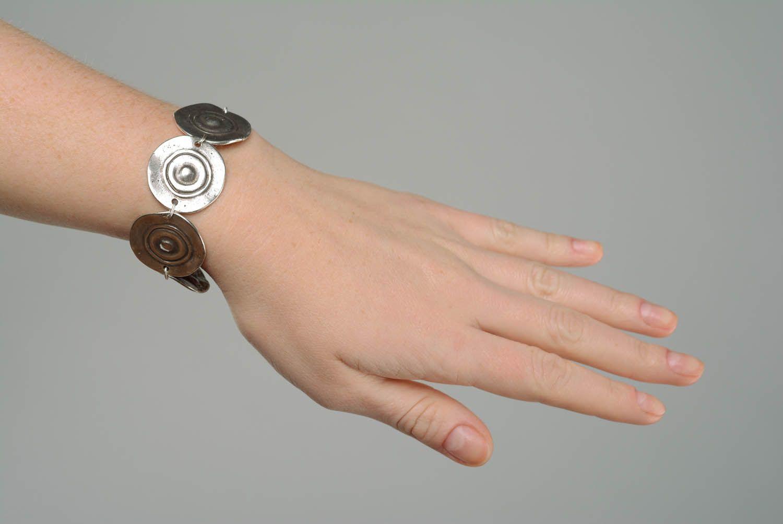 Металлический браслет Тарелочки фото 5