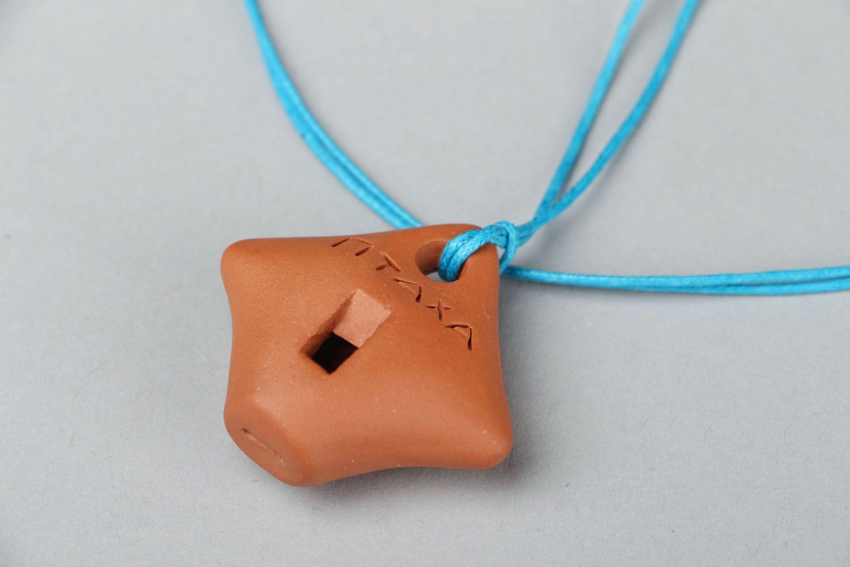 Кулон из глины Свистулька фото 3