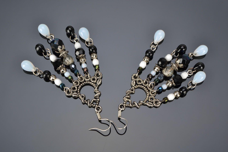 Czech glass earrings photo 1