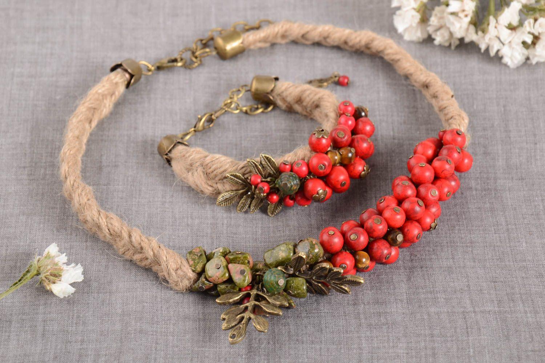 d272705a3cf2 sets de joyas Collar y pulsera originales elegantes bisuteria artesanal  regalo original - MADEheart.com