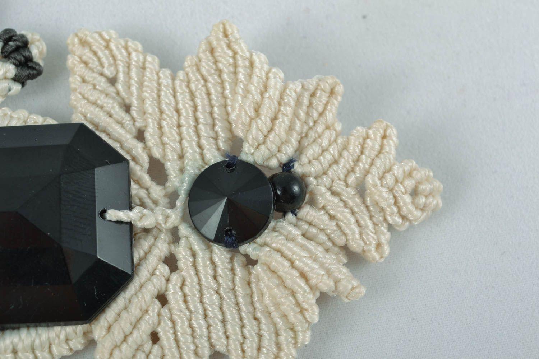 Macrame necklace photo 3