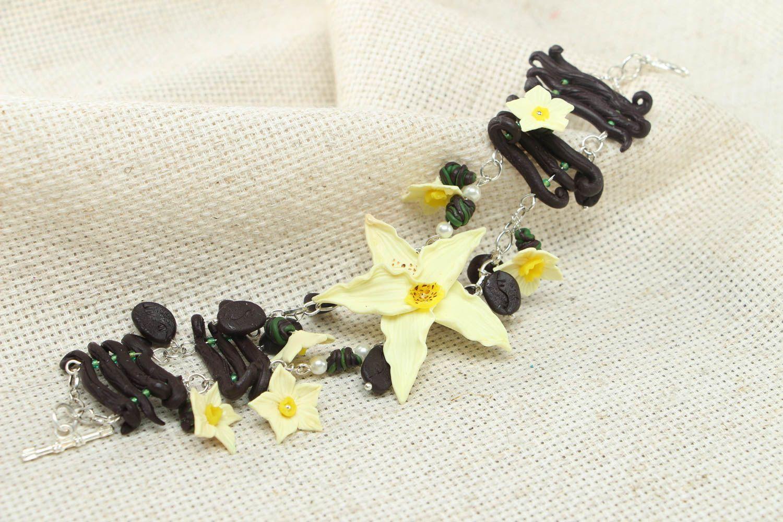 Polymer clay floral bracelet photo 4