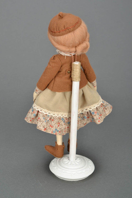 Handmade doll on stand photo 3