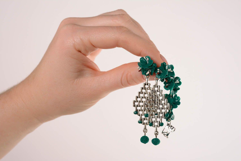 Cuff earrings Emerald photo 4
