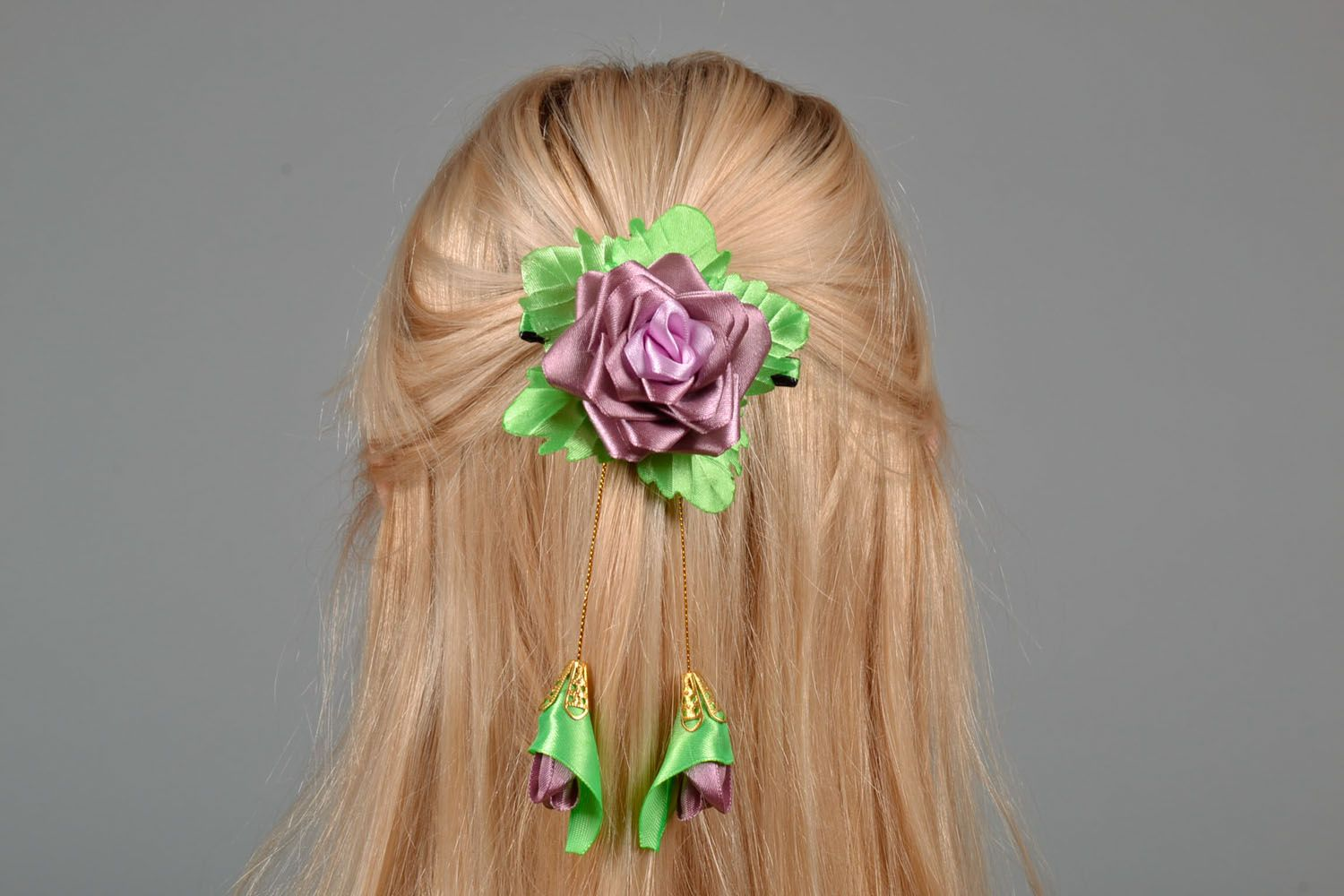 Hair clip Lilac Rose photo 1