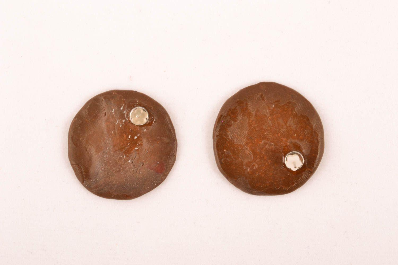 Оригинальные серьги-гвоздики фото 1