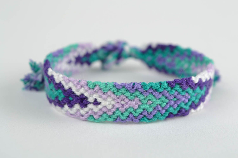 Beautiful macrame woven friendship bracelet handmade adjustable size photo 3
