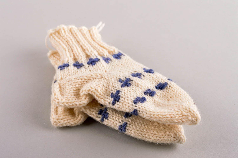 Beautiful handmade knitted socks childrens warm socks accessories for kids - MADEheart.com