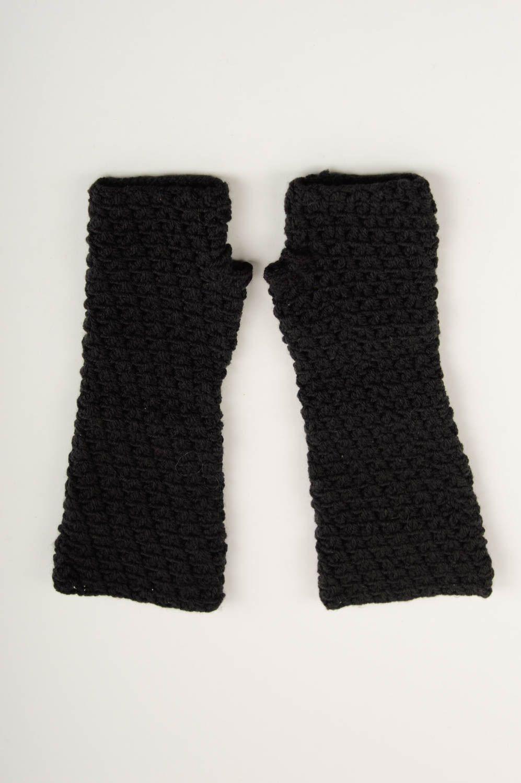 Mitaines gants sans doigts /à carreaux Noir//Rouge