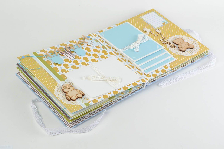 Blue handmade gift scrapbooking photo album for boy photo 4
