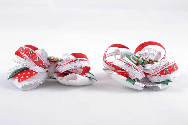 Rep ribbon hair clips photo 2