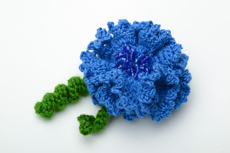 Вязание крючком цветов для резинок 90