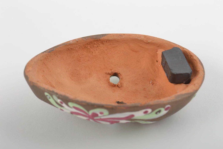 Beautiful homemade designer clay fridge magnet souvenir Venetian mask photo 3