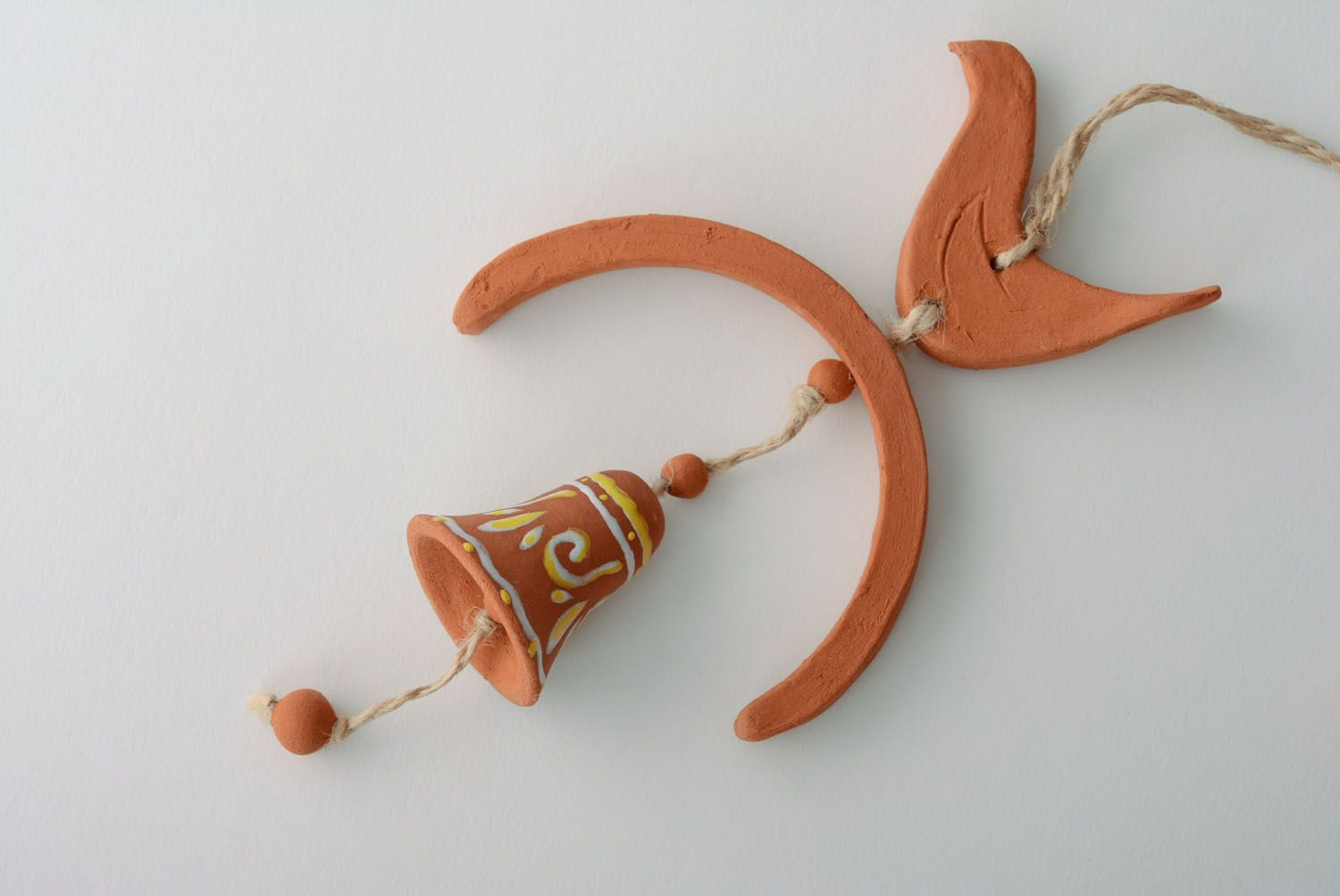 Unusual ceramic hanging bell photo 2