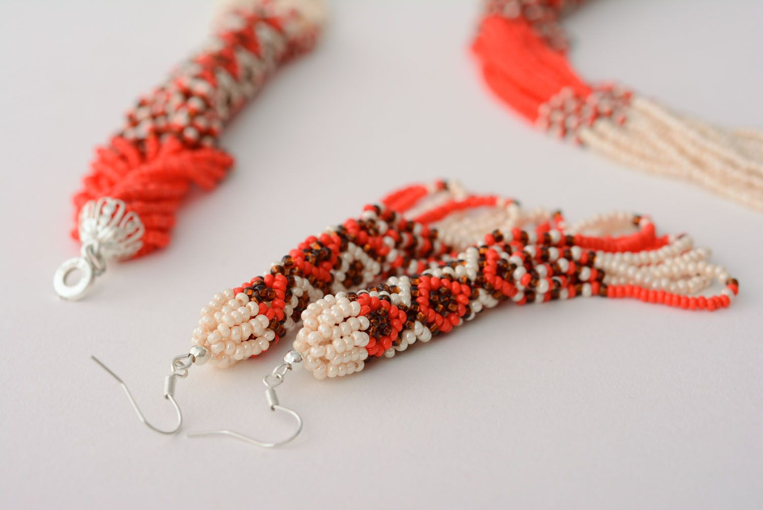 Homemade beaded jewelry set photo 5