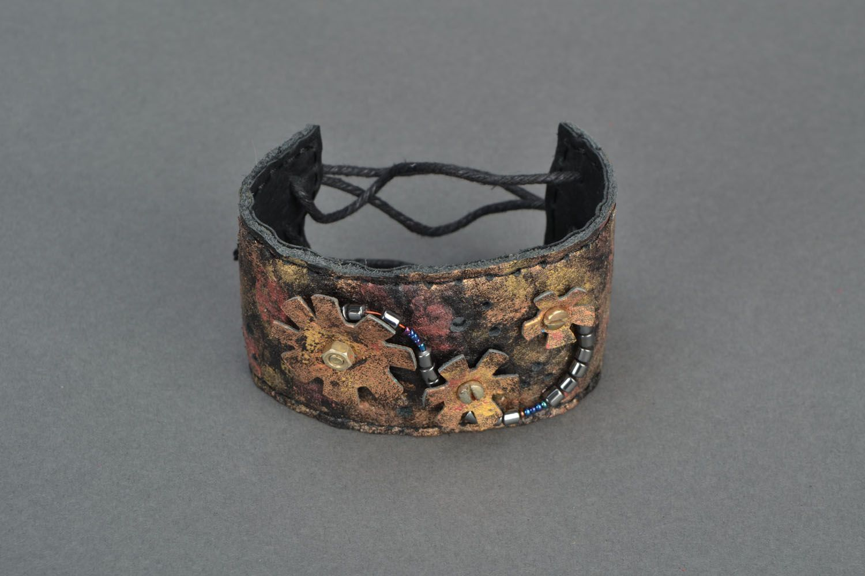 Handmade leather bracelet photo 3