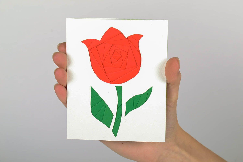 Greeting card made using the art of iris folding photo 5