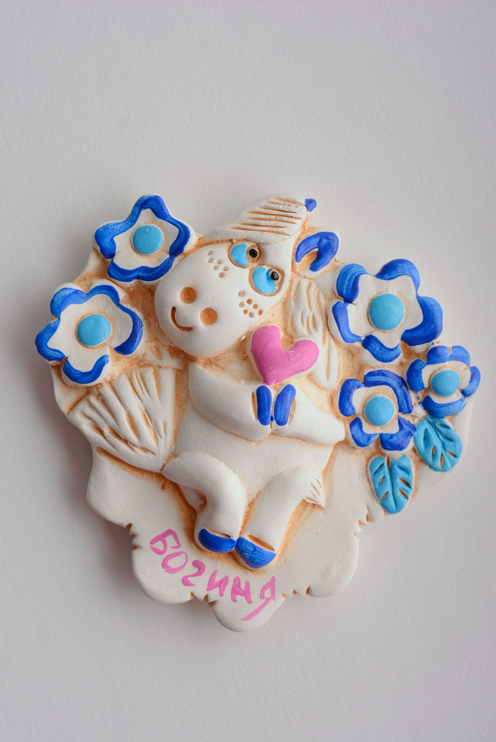 Ceramic fridge magnet Horse photo 1