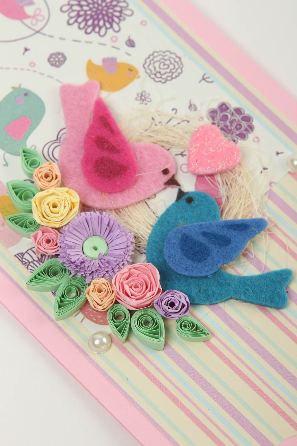 How to scrapbook greeting cards - Stationery Cute Handmade Greeting Card Birthday Greeting Cards Scrapbook Card Design Madeheart Com