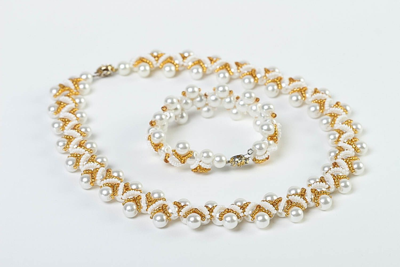 Stylish handmade jewelry set beaded necklace bracelet designs fashion trends photo 2