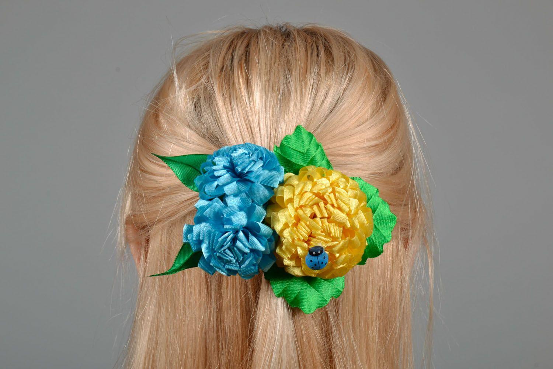 Stoff Haarspange Blume foto 1