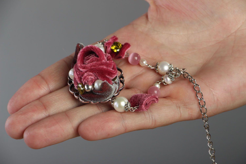 Armband aus Natursteinen Rose foto 5