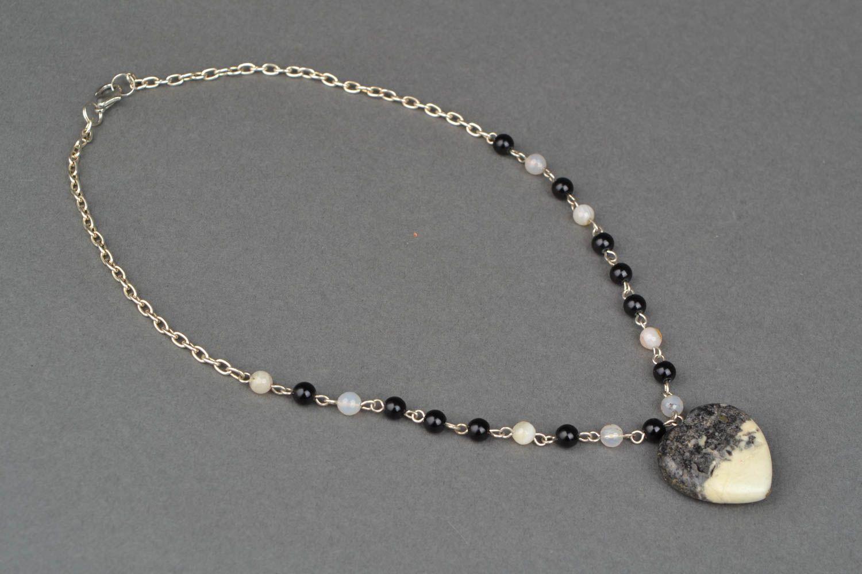 Оригинальный кулон из турквенита Сердце фото 4