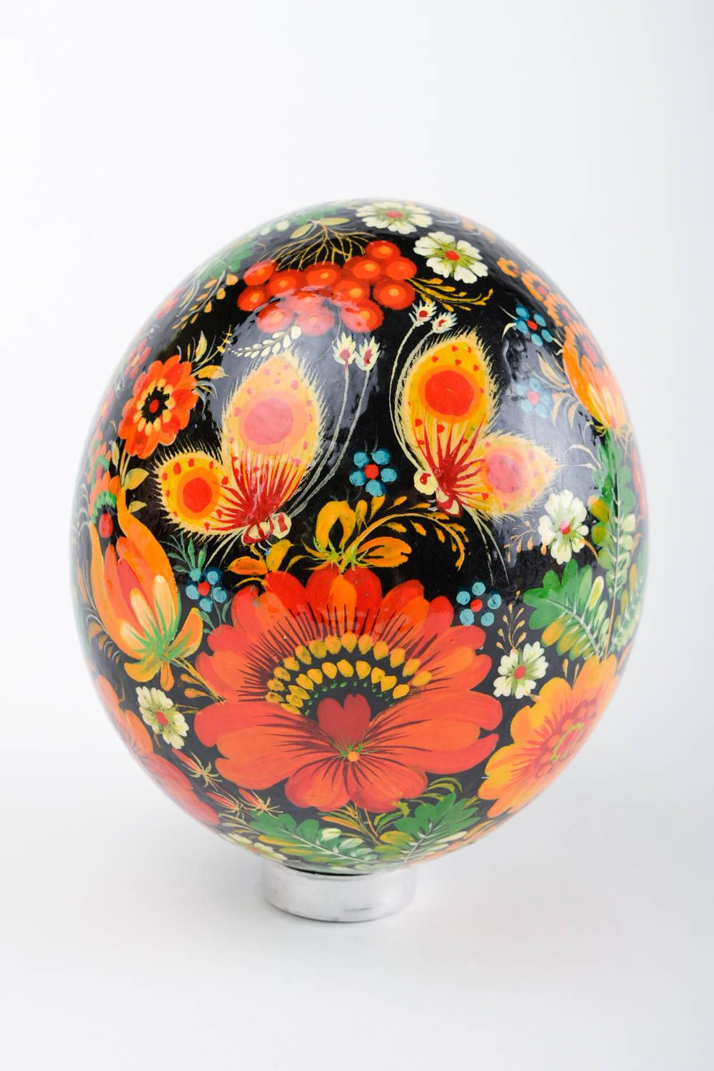 ostrich easter eggs Handmade Easter decor element stylish ostrich painted egg decorative use only - MADEheart.com