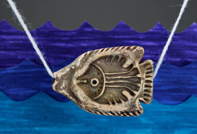 Ceramic pendant Fish photo 1