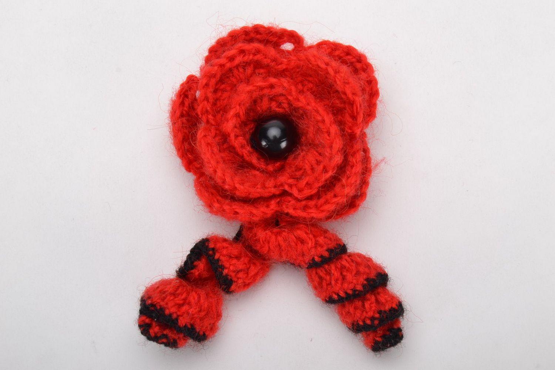 Homemade crochet brooch photo 3