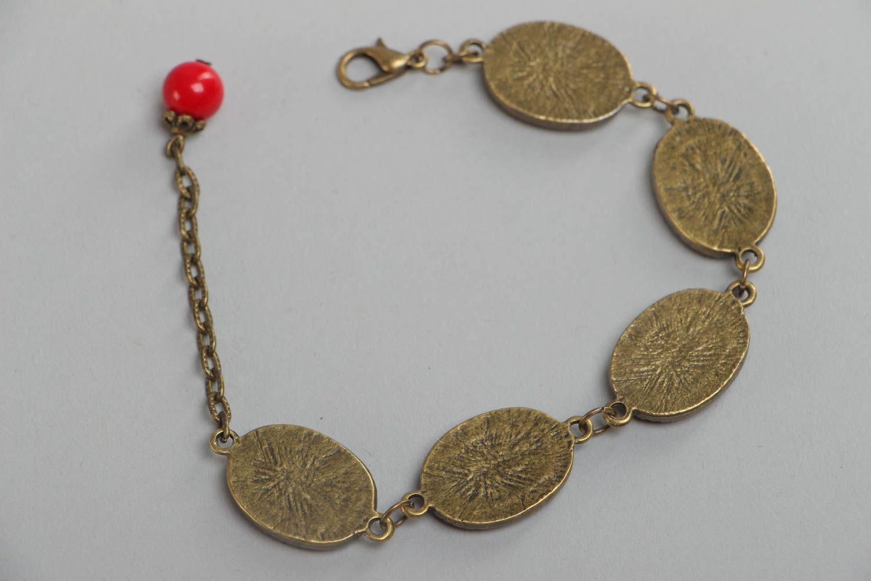 Handgemachtes bemaltes Armband aus Glasur an Kette im orientalischen Stil  foto 4