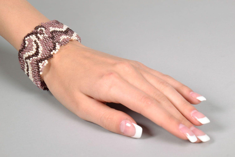 Wide beaded bracelet photo 4