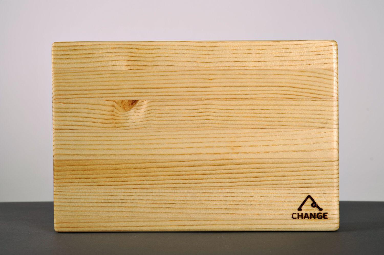 Larch wood yoga block photo 3