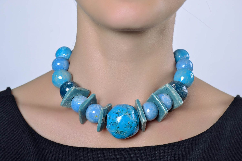 Massive ceramic bead necklace photo 2
