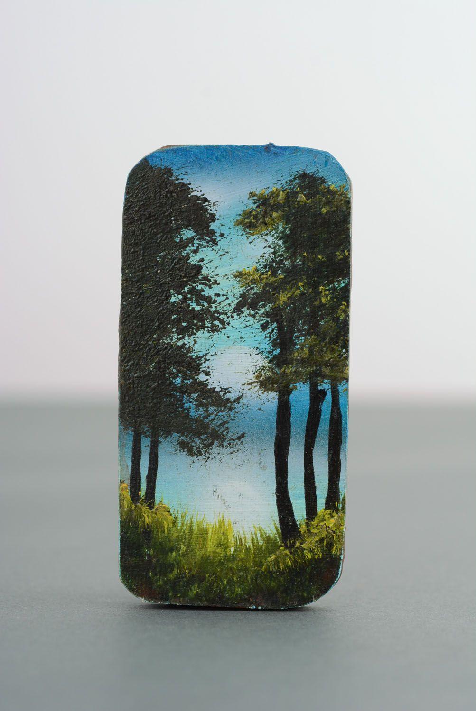 Wooden fridge magnet Pine Forest photo 4