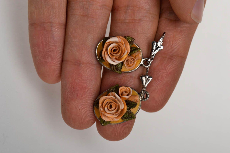 Handmade stylish tender earrings elite bijouterie elegant beautiful earrings photo 5