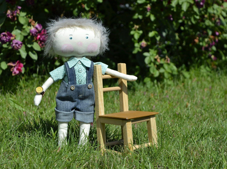 Handmade soft doll photo 1