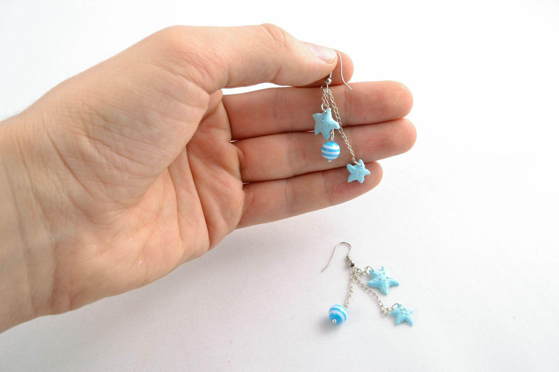 Handmade polymer clay earrings photo 2