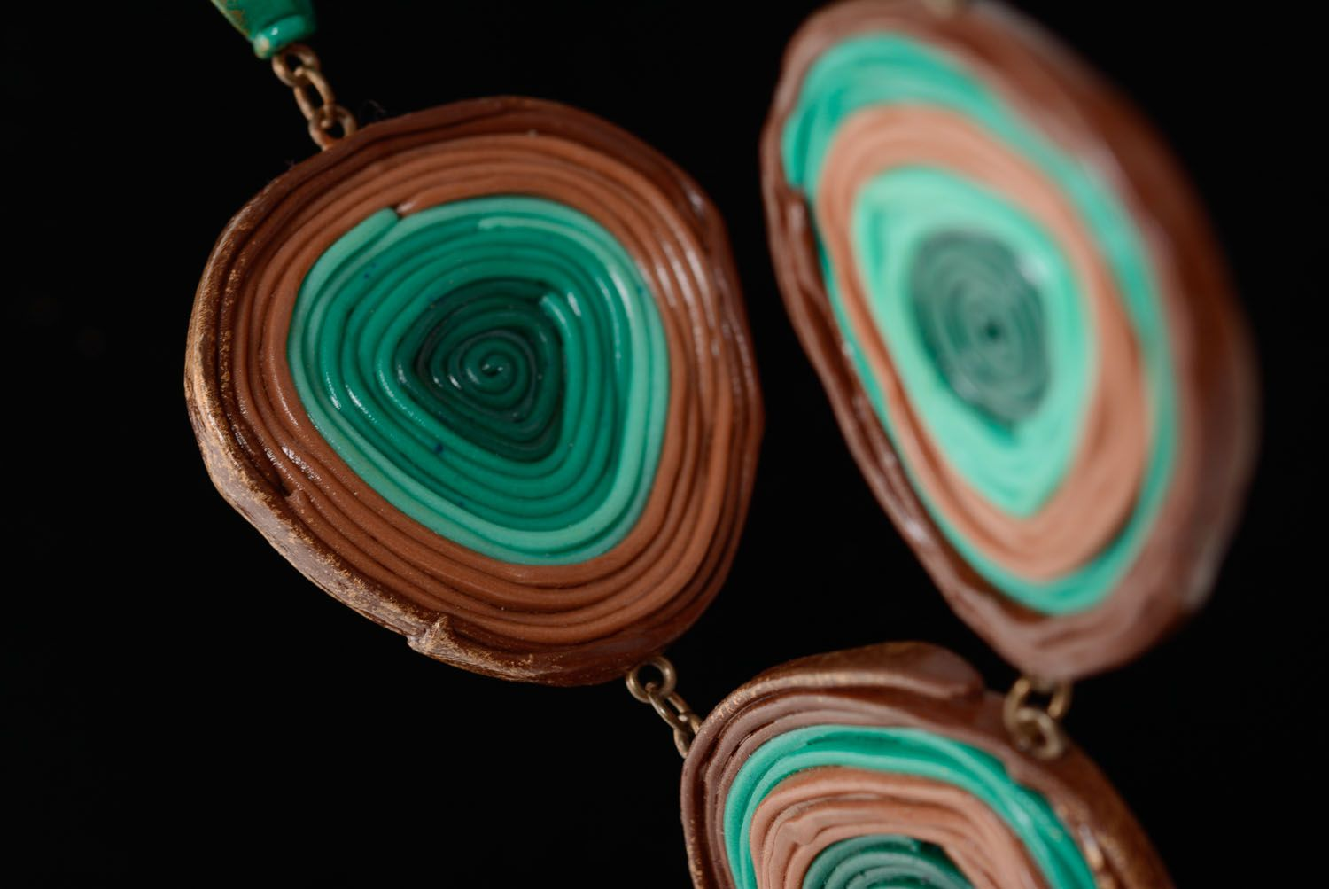 Unusual polymer clay necklace photo 2