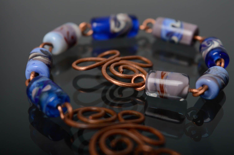Schönes Armband aus Glas in Lampwork Technik foto 4