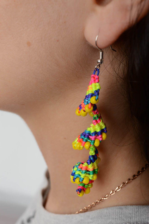 0981982b7f1b pendientes largos Pendientes hechos a mano de hilos originales aretes de  moda accesorio para mujer -