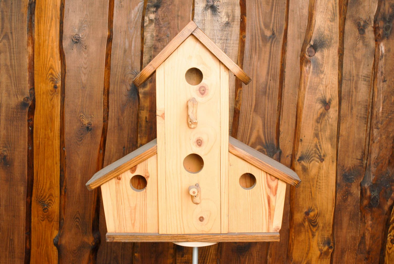 Nichoir En Bois Pour Oiseaux : pour animaux Nichoir artisanal de bois naturel fait main pour oiseaux