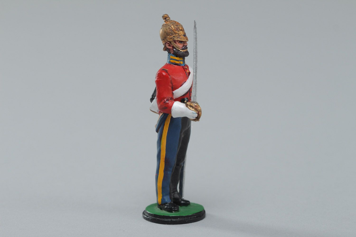 Officer lead soldier,unpainted,hand made,collectable,rare England