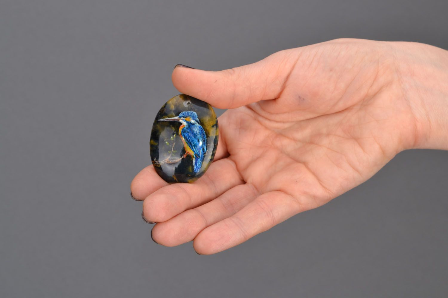 Pendant made of natural stone photo 2